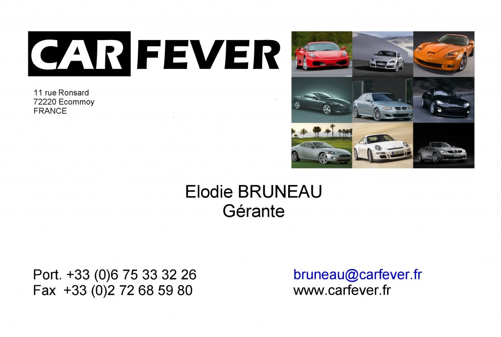 Carte de Visite Car Fever