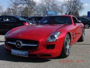 Face avant Mercedes SLS